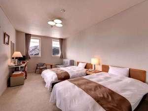Asahi自然観 *洋室ツイン(ホテル棟)/カップルやご夫婦でのご宿泊に◎四季を感じながら大切な時間をお過ごし下さい。