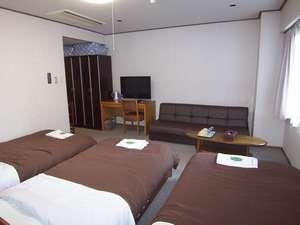 アーバネックスイン新潟 ベッドが3つのファミリールーム